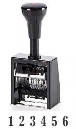 Нумератор автоматический 6 разрядов, 4,5мм, металл/пластик