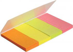 Закладки бумажные с клейким слоем 20х50мм, 4х40шт, 160лист.