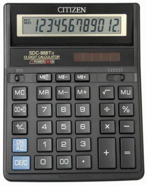 Бухгалтерский калькулятор Citizen SDC-888, 12 разрядов