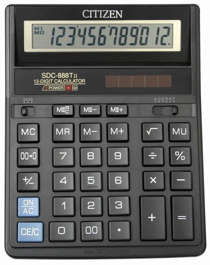 Бухгалтерский калькулятор ситизен 888, 12 разрядов