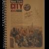 Тетрадь на пружине сбоку KRAFT В6, 96 листов, тверд. обложка, микроперфорация