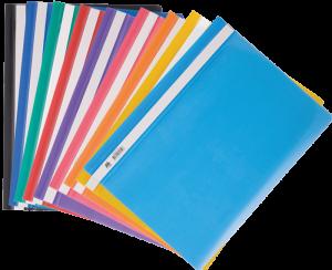 Папка пластиковая А4 с прозрачным верхом