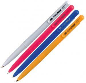 Ручка шариковая автоматическая, разноцветные корпуса