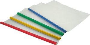 Папка пластиковая А4 с планкой-зажимом, полупрозрачная