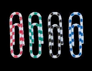 Скрепки с пластиковым покрытием ЗЕБРА 28мм, 100шт/уп.