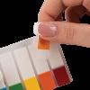 Закладки пластиковые с клейким слоем 45х12шт, 100шт 13036