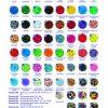 Набор цветных термобусин, 3000шт, d-5мм, 10 цветов 14524