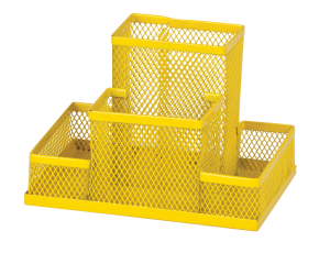 Прибор настольный  из металлической сетки 4 отделения