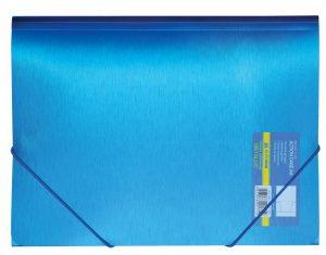 Папка пластиковая А4 на круглой резинке,  Metallic, гладкий пластик