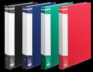 Папка пластиковая А4 с 10 файлами