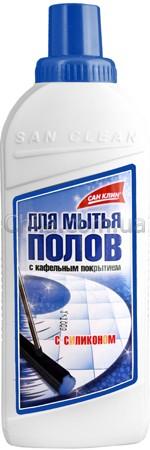 Средство для пола Сан Клин, КАФЕЛЬ, 1 литр