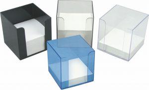 Куб для бумаги, пластиковый, 9х9х9см
