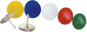 Кнопки с цветным покрытием, 100шт/уп