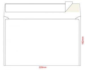 Конверт С5, размер 162х229мм, самоклейкий