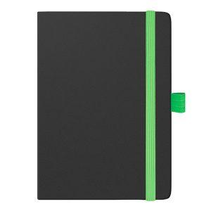 Еженедельник SMART STRONG датированный 2018, черный, зеленый срез