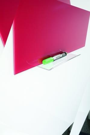 Полочка акриловая 20 см для стеклянных досок на клейкой основе