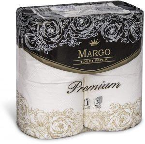 Туалетная бумага Марго Premium, 3-х слойная, 4шт/уп