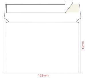 Конверт С6, размер 114х162мм, самоклейкий