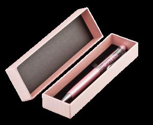 Ручка шариковая с кристаллами AD001.18L.BPN в футляре, розовая