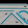 Комплект: линейка 25 см, 2 треугольника, транспортир