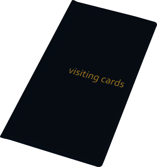 Визитница на 96 визиток, обложка PVC, черная