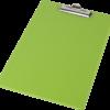 Планшет А4, покрытие PVC, зубчатый прижим, салатовый