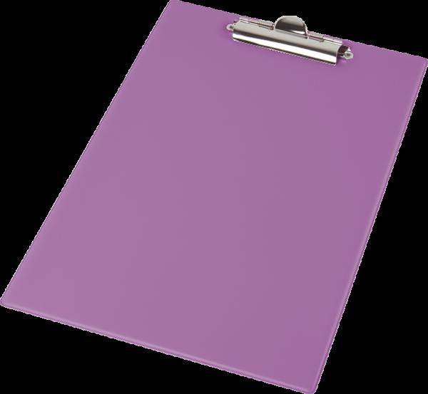 Планшет А4, покрытие PVC, зубчатый прижим, фиолетовый