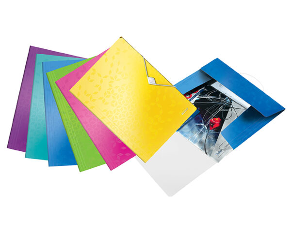 Папка пластиковая А4 на резинке LEITZ WOW