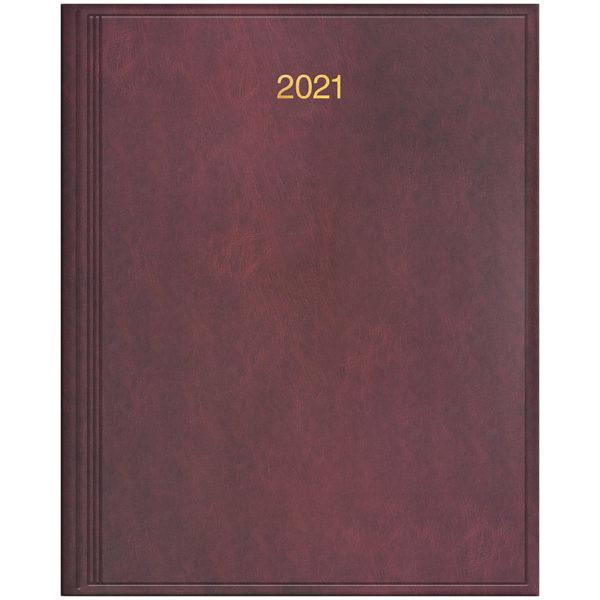 Еженедельник датированный А4 BRUNNEN 2021 БЮРО MIRADUR бордовый