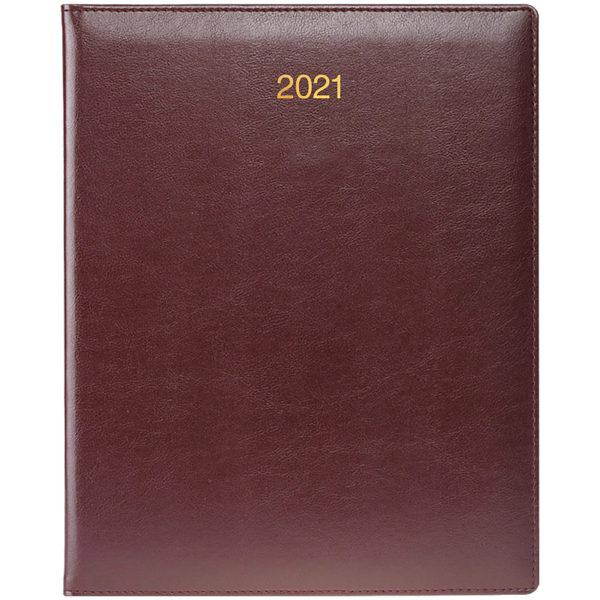Еженедельник датированный А4 BRUNNEN 2021 БЮРО SOFT бордовый
