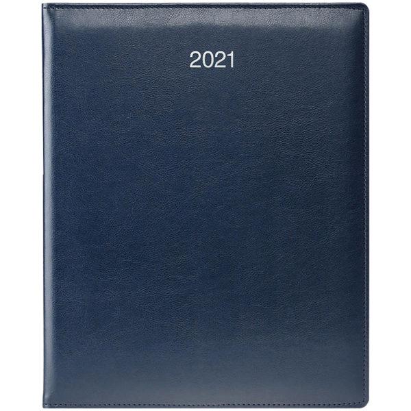 Еженедельник датированный А4 BRUNNEN 2021 БЮРО SOFT синий