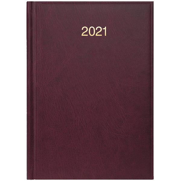 Ежедневник датированный BRUNNEN 2021 СТАНДАРТ MIRADUR, бордовый
