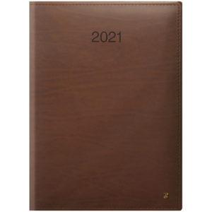 Ежедневник датированный BRUNNEN 2021 СТАНДАРТ LaFONTAINE, коньячный, КОЖА