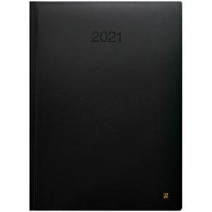 Ежедневник датированный BRUNNEN 2021 СТАНДАРТ LaFONTAINE, черный КОЖА