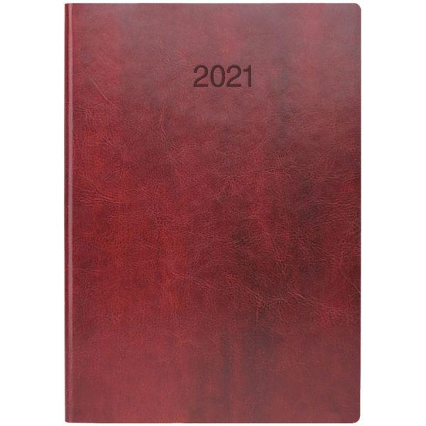 Ежедневник датированный BRUNNEN 2021 СТАНДАРТ FLEX, бордовый, гибкий