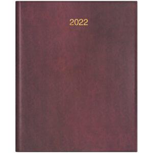 Еженедельник датированный А4 BRUNNEN 2022 БЮРО MIRADUR бордовый