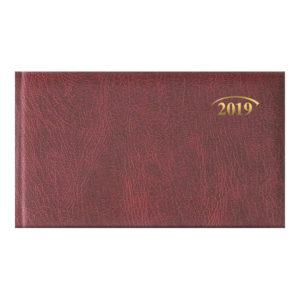 Еженедельник 2019 Brunnen карманный датированный MIRADUR бордовый