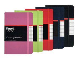 Записная книжка Partner, А6-, 96л, тв. виниловая обложка, клетка, кремовый блок
