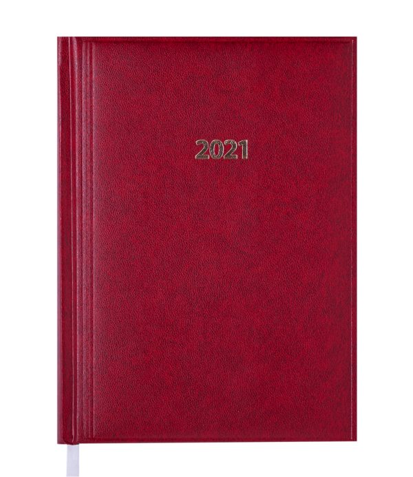 Ежедневник А5 датированный 2021 BASE красный