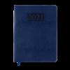 Ежедневник датированный 2021 AMAZONIA, A5, синий, серебряный торец