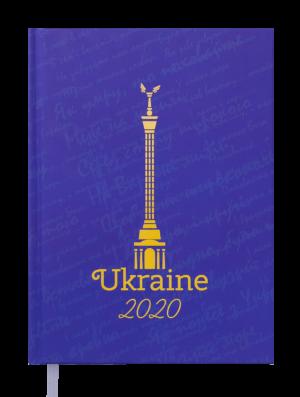 Ежедневник датированный 2020 UKRAINE A5, синий