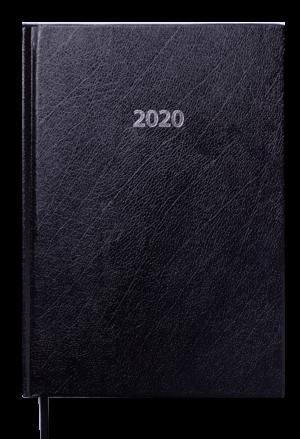 Ежедневник датированный 2020 STRONG, А5, твердая обложка, черный
