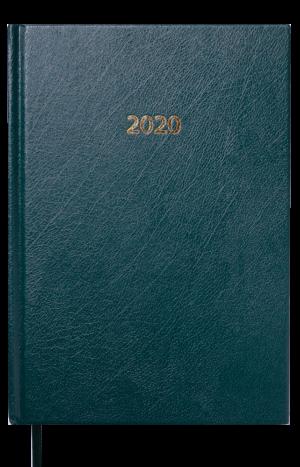 Ежедневник датированный 2020 STRONG, А5, твердая обложка, зеленый