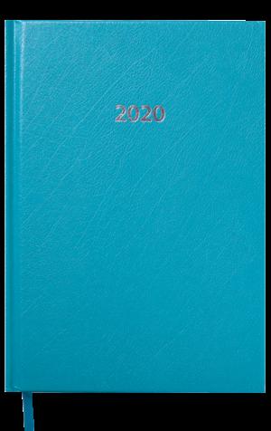 Ежедневник датированный 2020 STRONG, А5, твердая обложка, бирюзовый