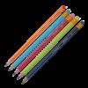 Карандаш НВ шестигранный с ластиком, разноцветный