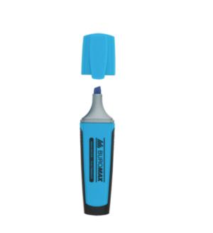 Маркер текстовый, 2-4мм, клиноподобный, голубой
