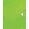Папка пластиковая А4 на резинке LEITZ WOW 56220