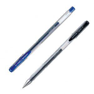 Ручка гелевая SIGNO fine, 0,7мм, UM-100 (черный, синий)