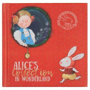 Записная книжка ALICE, 125х125мм, 80л, тв. обложка, клетка, белый блок