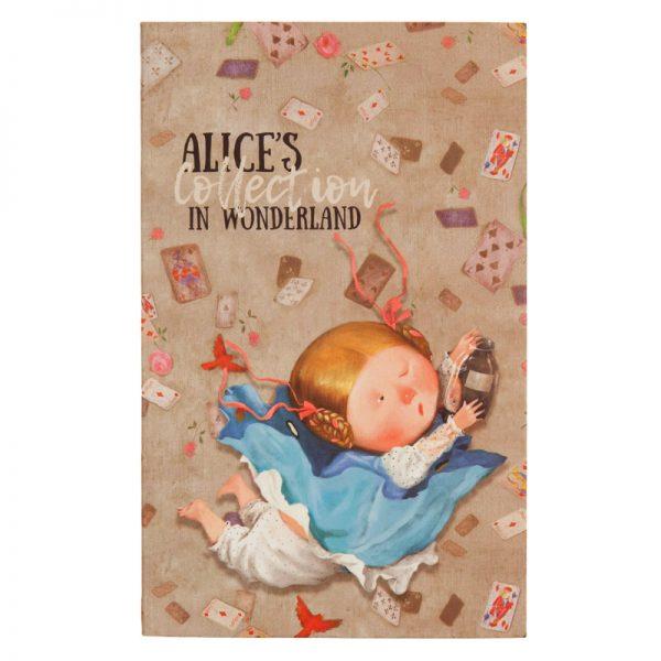 Записная книжка ALICE, В6, 80л, гибкая обложка, клетка, белый блок